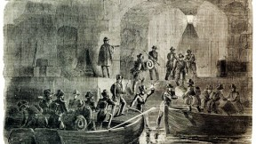 The entry of Major  Anderson's command into Fort Sumter, as depicted in <i>Harper's Weekly</i>