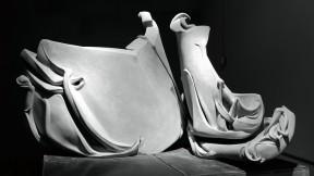 <i>Beckoning</i> (2008), one of Dinerstein's recent concrete sculptures