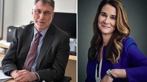 Photographs of Harvard and Radcliffe would-be honorands Martin Baron and Melinda Gates