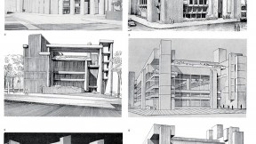 Designs for Paul Rudolph's iconic, controversial Yale Art & Architecture build­ing, 1959-1961
