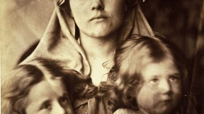 Julia Margaret Cameron, <i>Madonna and Two Children,</i> 1864, albumen print: artistically arranged&mdash;but could she control the expressions?