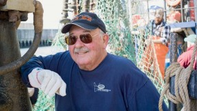 """Commercial fisherman Russell Sherman still admires the fishermen he worked for in his early days: """"Strong, and strong-willed, independent men. Most were veterans of World War II, and had been through a lot—they had tremendous work ethic. And I wanted nothing but to earn their respect."""""""