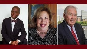 Photos of three Harvard Medalists