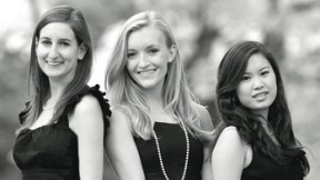 Her Campus founders Kaplan, Hanger, and Wang