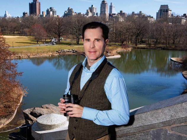 Birder David Barrett pictured at Central Park