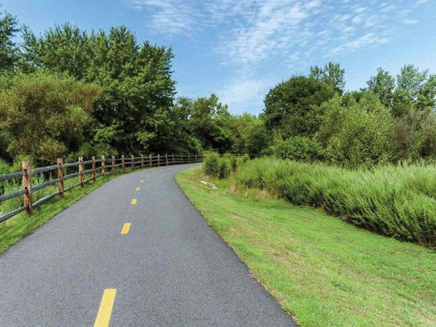 Bikeways run through towns and countryside in the Blackstone River Valley