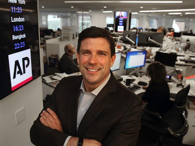 Michael Fabiano in the Associated Press newsroom