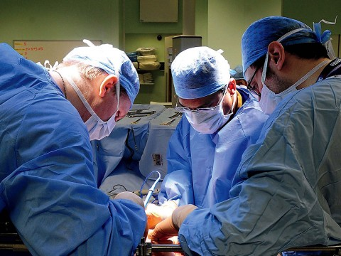 Photograph of surgical procedure
