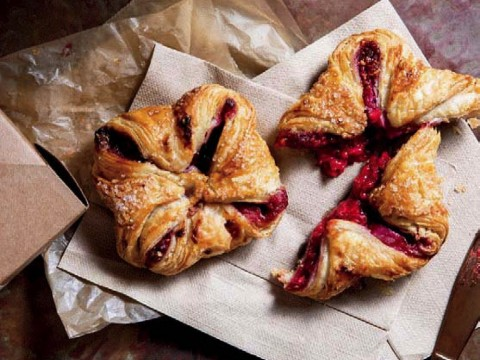 Fresh-baked jam turnovers at Sofra